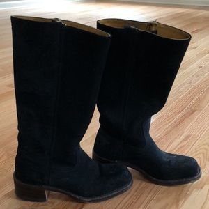 Black Suede Frye Boots
